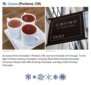 Buzzfeed 27 best places in the world to get hot chocolate